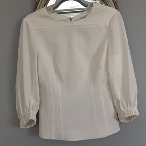 Tibi Long Sleeve White Blouse